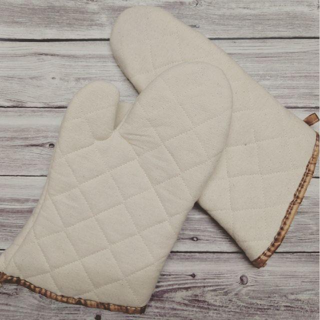 Găng tay chống nhiệt vải thô 30cm (2 chiếc)