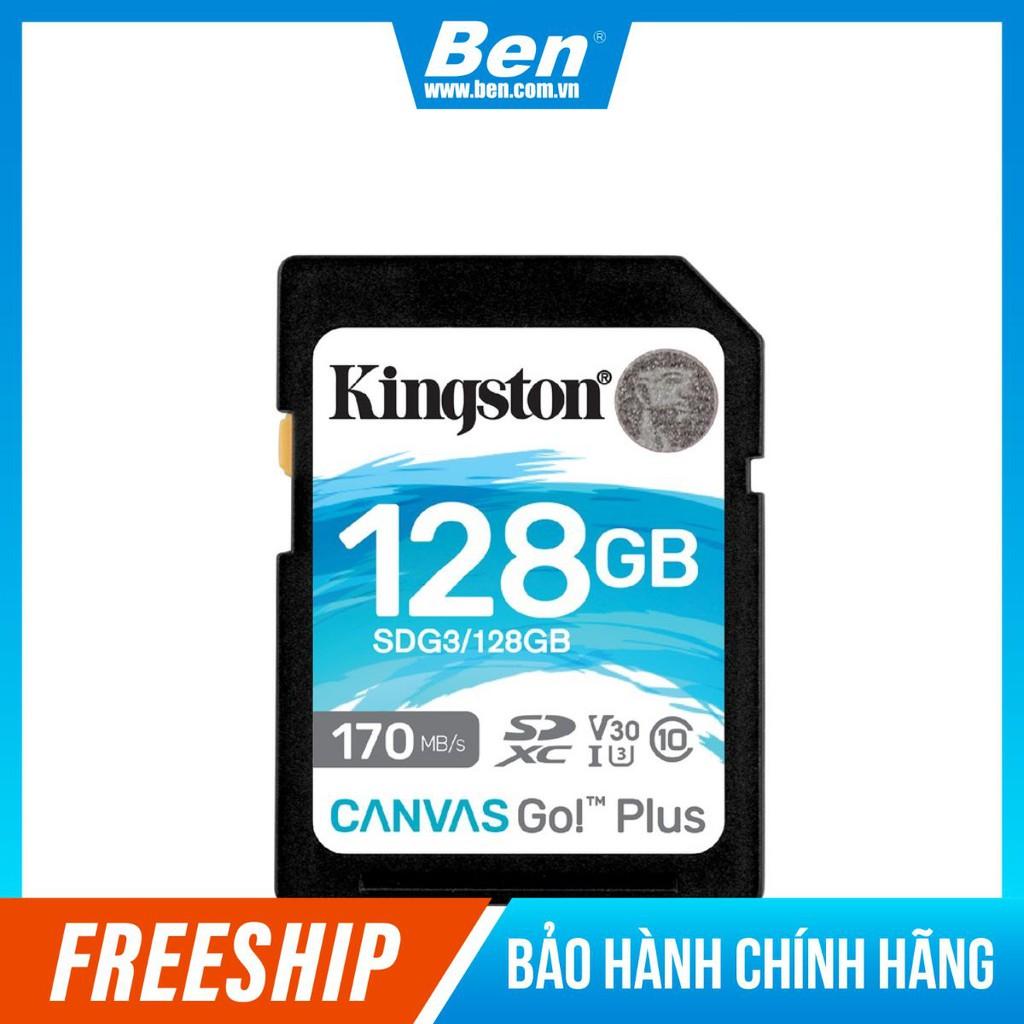 Thẻ nhớ Kingston Canvas Go Plus SD 128GB cho thiết bị di động, Camera,  Flycam và Sản xuất video 4K SDG3/128G