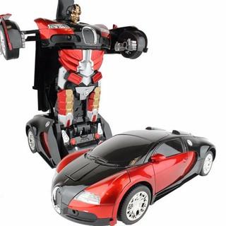 Sản Phẩm (DTH ) combo 5 ô tô biến hình thành robot có nhac và đèn dành cho bạn