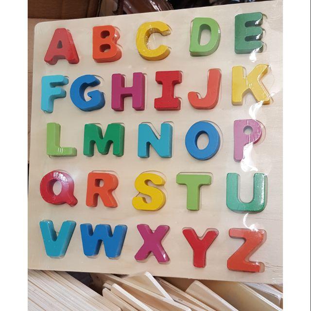 Bảng chữ cái Tiếng Anh gỗ nổi 3D