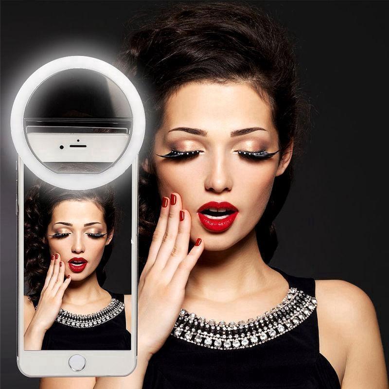 Đèn flash tròn hỗ trợ chụp ảnh cho Iphone Android Samsung Huawei Xiaomi VIVO OPPO