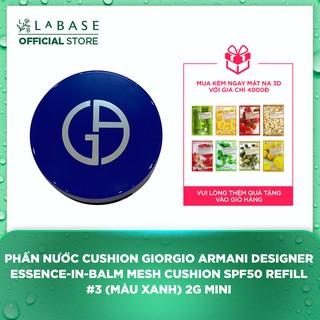 Phấn Nước Cushion Giorgio Armani Designer Essence-In-Balm Mesh Cushion SPF50 Refill 3 (Mini 2g - Màu Xanh) thumbnail