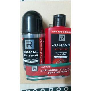 Lăn khử mùi Romano 50ml tặng sữa tắm