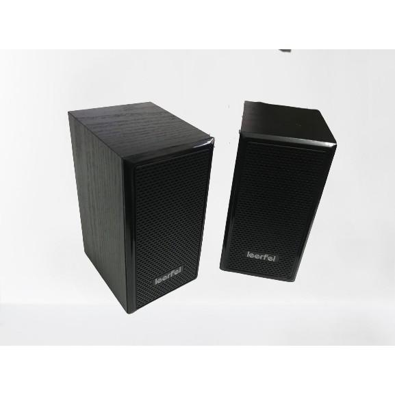 Loa vi tính chuẩn 2.0 LeerFei D-091 vỏ gỗ, cho PC, Laptop, Điện thoại âm thanh cực đỉnh