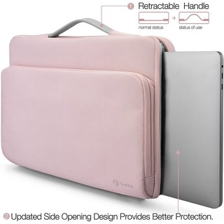 "TÚI XÁCH CHỐNG SỐC TOMTOC (USA) BRIEFCASE MACBOOK PRO 13"" NEW PINK – A14-B02C"