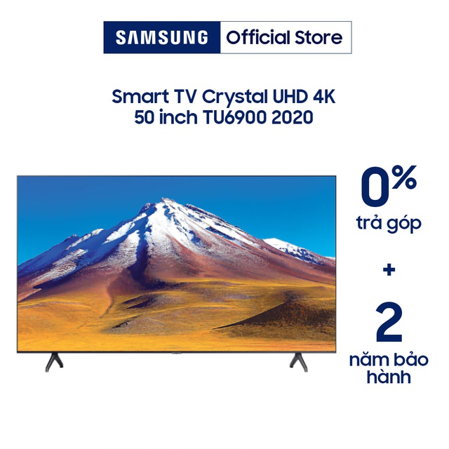 [Nhập ELSAM30 giảm 5% đơn 5TR] Smart Tivi Samsung Crystal UHD 4K 50 inch UA50TU6900KXXV - Model 2020
