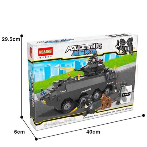 Lắp ráp Lego xe tăng đặc nhiệm SWAT