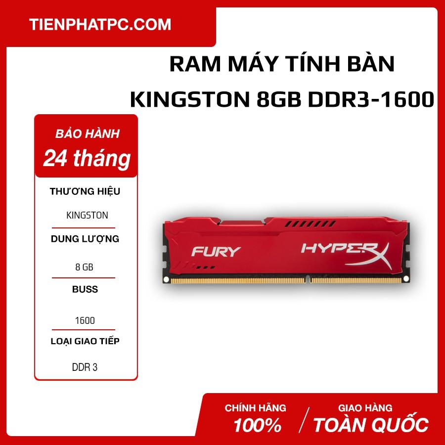 Ram máy tính Kingston HyperX Fury DDR3-1600 Bảo hành 24 tháng