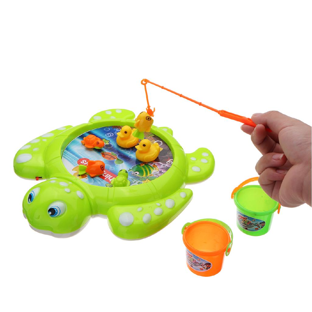 Baby Cute Magnetic Toy Intelligence Fishing Tool Automatic Music Fish Toy