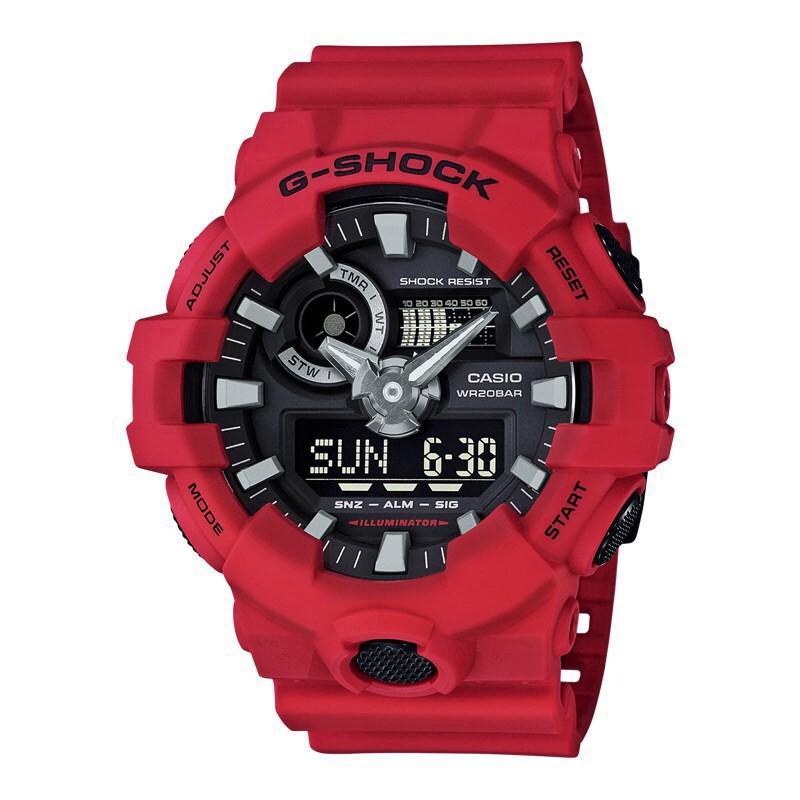 (ขายบ้า) Casio G-Shock GA-700 นาฬิกาข้อมือผู้ชายกีฬานาฬิกาควอตซ์ GA-700-4A