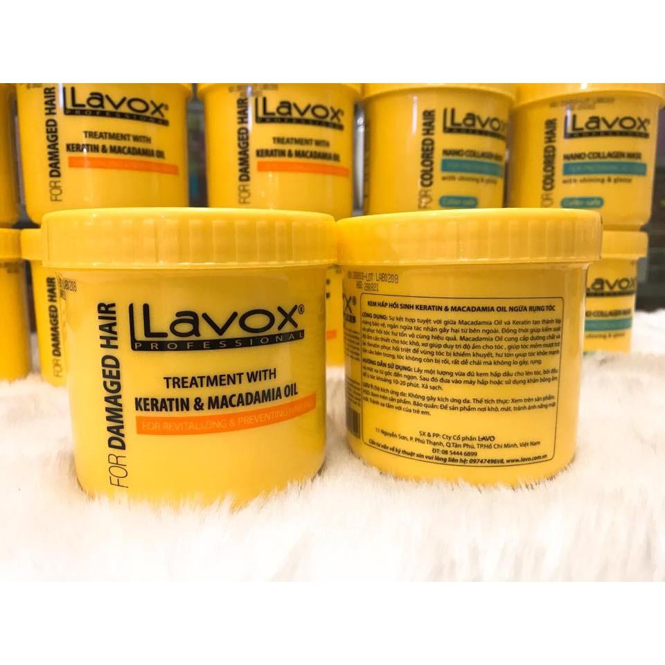 (500ml) Hấp Dầu LAVOX Phục Hồi Hư Tổn - Giữ Màu Tóc Nhuộm Mềm Mượt