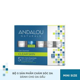 Bộ Sản Phẩm Chăm So c Da Dâ u Mini Andalou Naturals Clear Skin Get Started Kit thumbnail