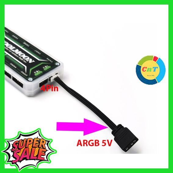 [Mã ELFLASH3 hoàn 10K xu đơn 20K] Dây Chuyển Nguồn 5v ARGB Sync Main ra 6 - 4 Pin Đồng Bộ Hub Coolmoon