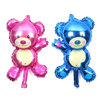 [BUDD&vn] 2pcs Cartoon Bear Air Balls Aluminum Foil Balloon Birthday Party decor