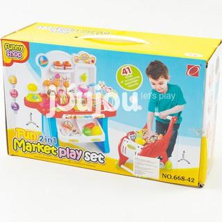 Bộ đồ chơi siêu thị mini 2 trong 1
