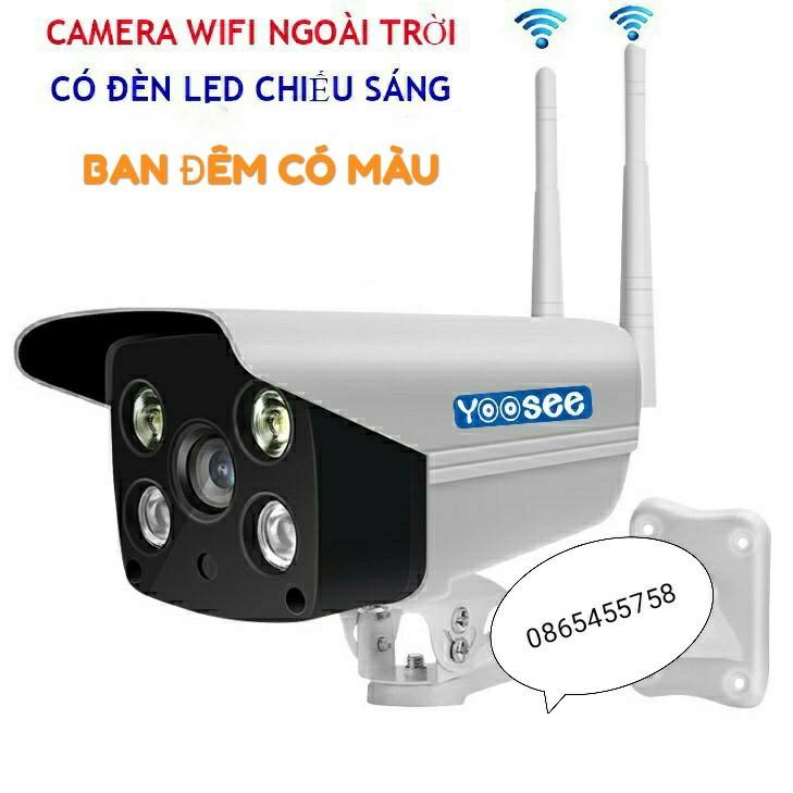 Camera Yousee Ngoài Trời Bật Đèn Led có màu ban đêm