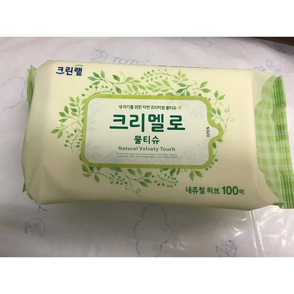 Khăn giấy ướt Hàn Quốc Natural Herbal _chiết xuất thiên nhiên , mềm mại cho da em bé