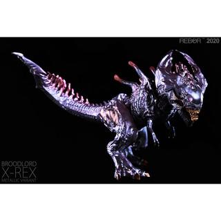 ✔Mô hình Xenomorph + T-Rex chính hãng Rebor (Màu tím) Metallic Variant
