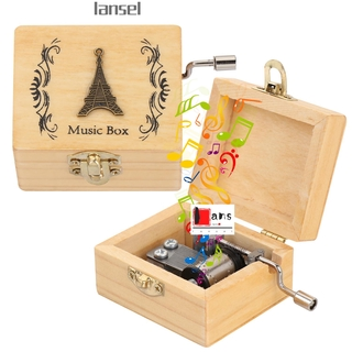 LANSEL Thanksgiving Day Wooden Hand Crank Birthday Antique Engraved Music Box Mother s Day Classical Memorial Gifts Valentine s Day Musical Boxes thumbnail