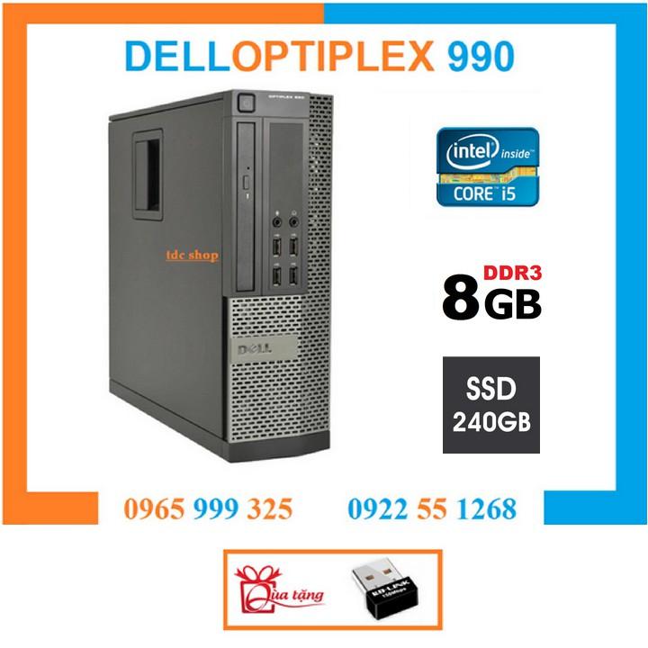 Thùng Đồng Bộ Dell Optiplex 990 (Core i5 2400 / 8G / SSD 240G ), Tặng USB  Wifi , Bàn di chuột , Bảo hành 02 năm
