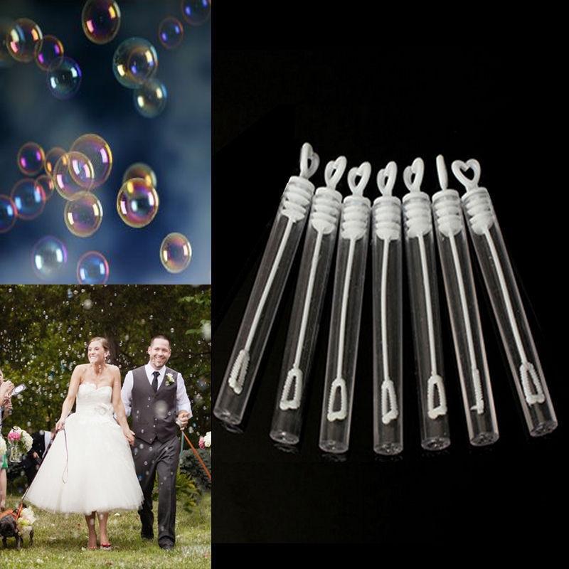 6Pcs Empty Bubble Soap Bottles Maker Home Wedding Xmas Birthday Party Decor