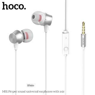 Hình ảnh Hoco M51 Tai nghe dài 1.2M giắc 3.5mm kèm micro phát âm thanh chất lượng cao-2