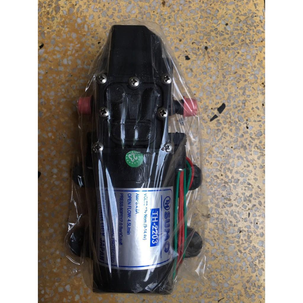 máy bơm nước mini 12v áp lực cao - bơm tăng áp mini 12v