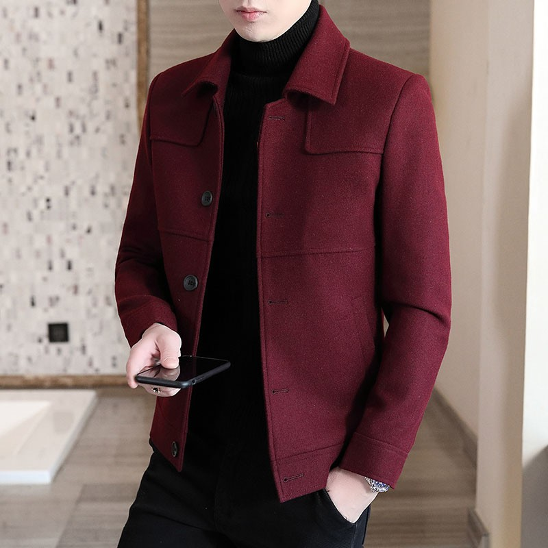 Áo Khoác Dạ nam dáng ngắn, Áo dạ nam phong cách Hàn Quốc hàng chuẩn giá đẹp H20 có video thật