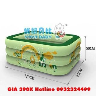 Bể bơi Yoyo 130*85*50CM 3 tầng tặng bơm điện 2 chiều