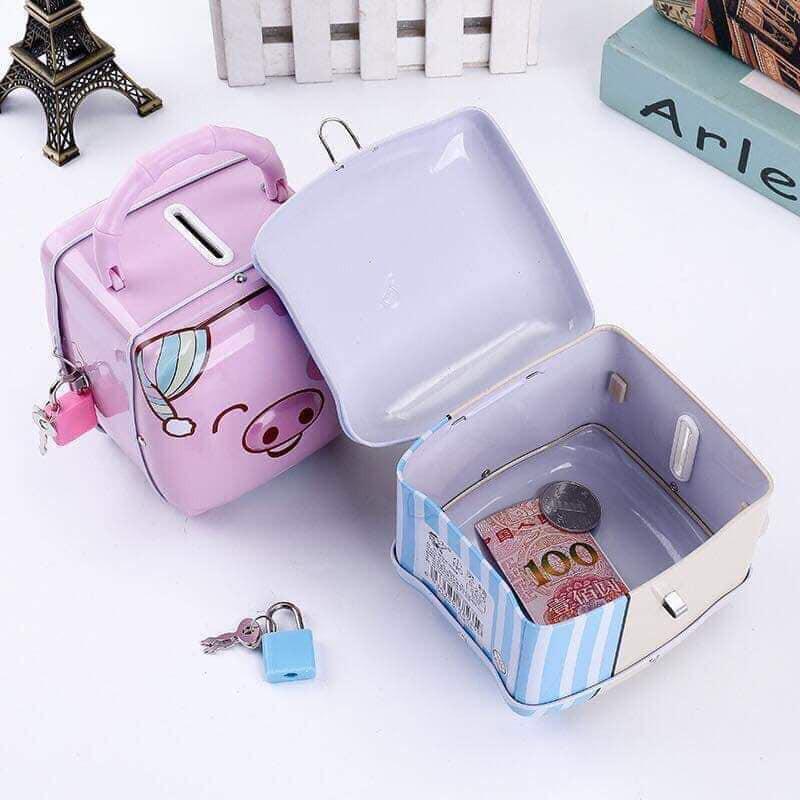 Két sắt mini hình con heo cho bé yêu   Shopee Việt Nam