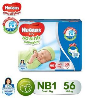 Miếng Lót Sơ Sinh Huggies Newborn 1 (0-5Kg) – N56 (Gói 56 Miếng)