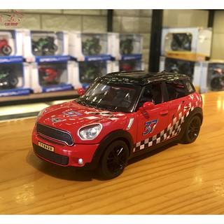 Mô hình xe ô tô Mini Countryman tỉ lệ 1:32 màu đỏ mui trắng