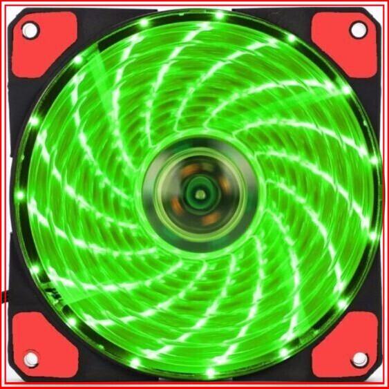 {SĂN SALE} Quạt Case AgeCooler 120MM 15 Led siêu sáng (màu xanh lá) Giá chỉ 93.750₫