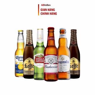 """[Mã GRO1BUD1010 giảm 60K đơn 250K] Bộ Sưu Tập 6 chai Bia Ngoại (Leffe, Hoegaarden, Corona, Budweiser,..) giá chỉ còn <strong class=""""price"""">17.600.000.000đ</strong>"""