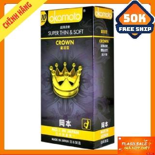 Okamoto Crown bao cao su hộp 10 chiếc