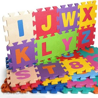 Bộ 40 miếng thảm xốp mềm lót sàn ghép chữ cái, số và phép tính cho bé