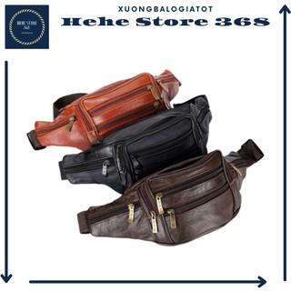 Túi đeo bụng da 6 ngăn cao cấp
