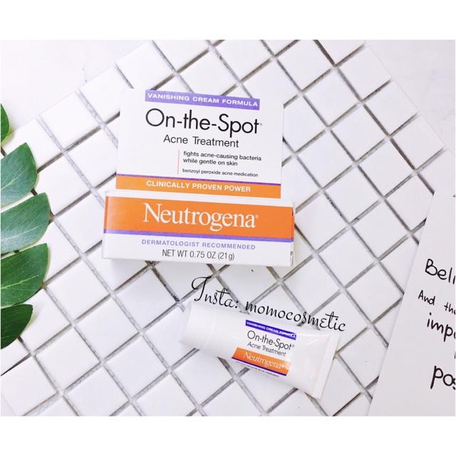 Kem trị mụn On The Spot Acne Treatment - Neutrogena