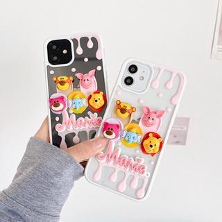 Cute Animals Bear and Tiger Handmade Case iPhone 12 12 Promax 11 11pro Max X Xr Xs Max Xr 8 7 Plus