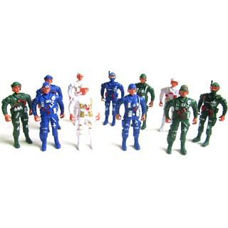 5pcs Playset Special Force Action Figures Kids Plastic Toy Soldier Men