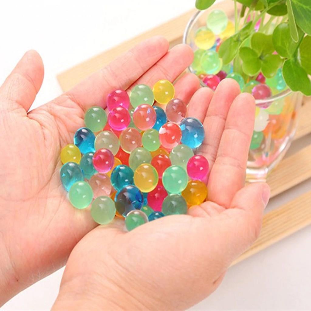 gói 100gram hạt nở nhiều màu - hạt nở đan thạch . Nguyên liệu trang trí mã LYO13