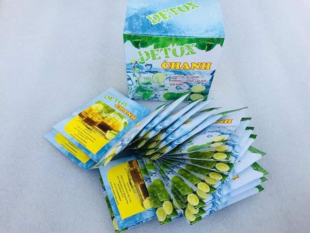 Hộp 20 Gói Detox Chanh Giảm Mỡ Đẹp Da 100% từ thiên nhiên