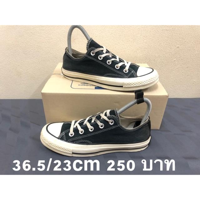 Converse all star ป้ายดำ แท้ รองเท้ามือ2 36.5 23cm