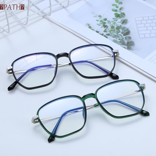 PATH Unisex Blue Light Blocking Glasses Vision Care Gaming Eyeglasses Office Computer Goggles Anti Eyestrain Square Frame Retro Eyewear Radiation Protection Safety Goggles