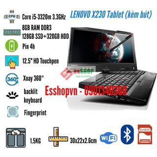 Laptop màn hình cảm ứng 12.5 inch LENOVO X230 Tablet Core i5-3320m 3.3GHz 8GB RAM 128GB SSD + 320GB HDD – Likenew 95%