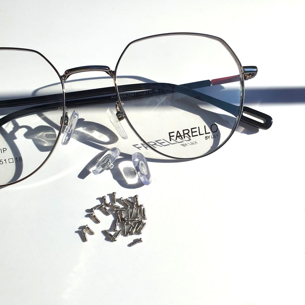 Đệm mũi silicon trắng trong gọng kính chống trượt tiện lợi Lilyeyewear