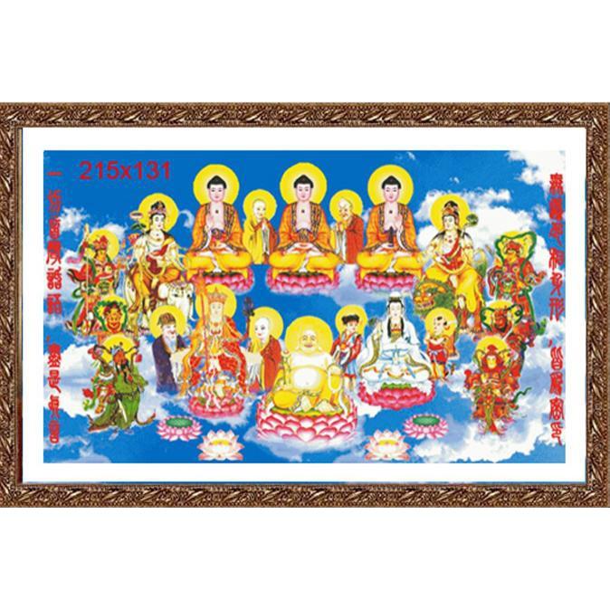 Muôn Phật Cõi Tây Thiên (Vải In Sẵn 100%)