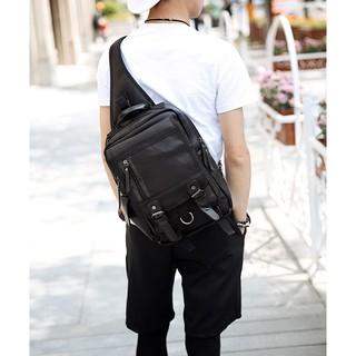 Túi da – Balo đeo chéo thời trang Hàn Quốc – TD17