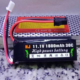 Pin 11.1v 3s 1800mah 30c Mini