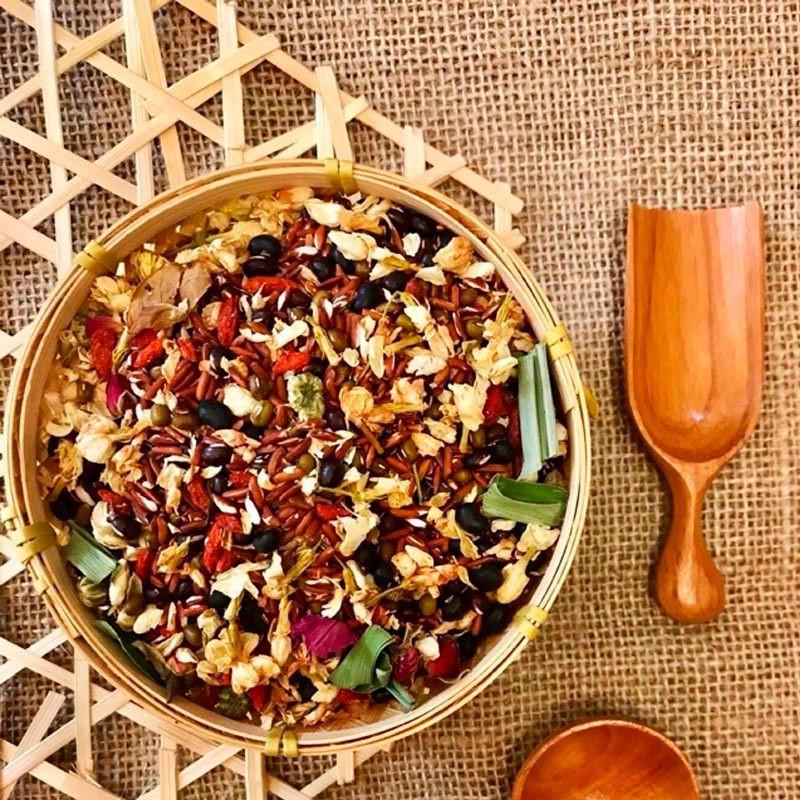 Trà hoa ngũ cốc đẹp da, thon dáng, mát gan, thanh lọc cơ thể, hộp 350g - SIRETEN